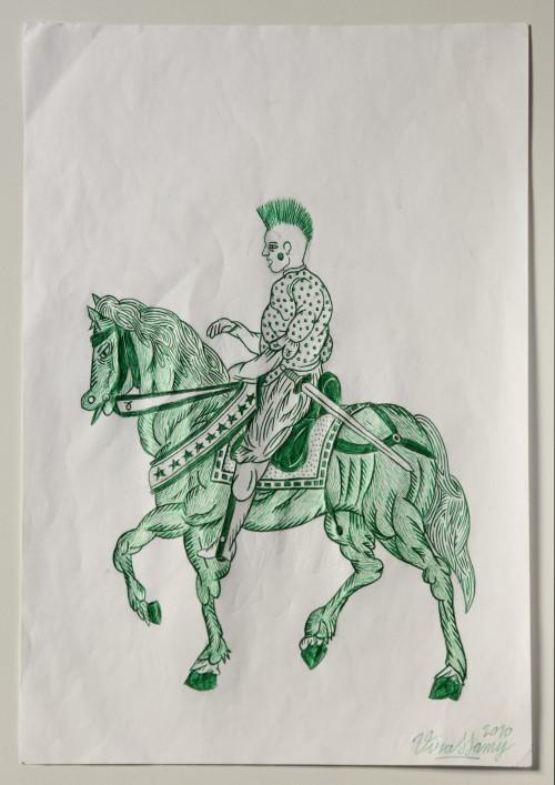 Untitled (4 horsemen drawings)