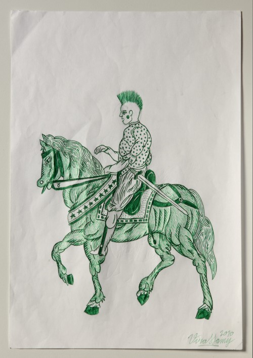 Untitled (4 horsemen drawings)