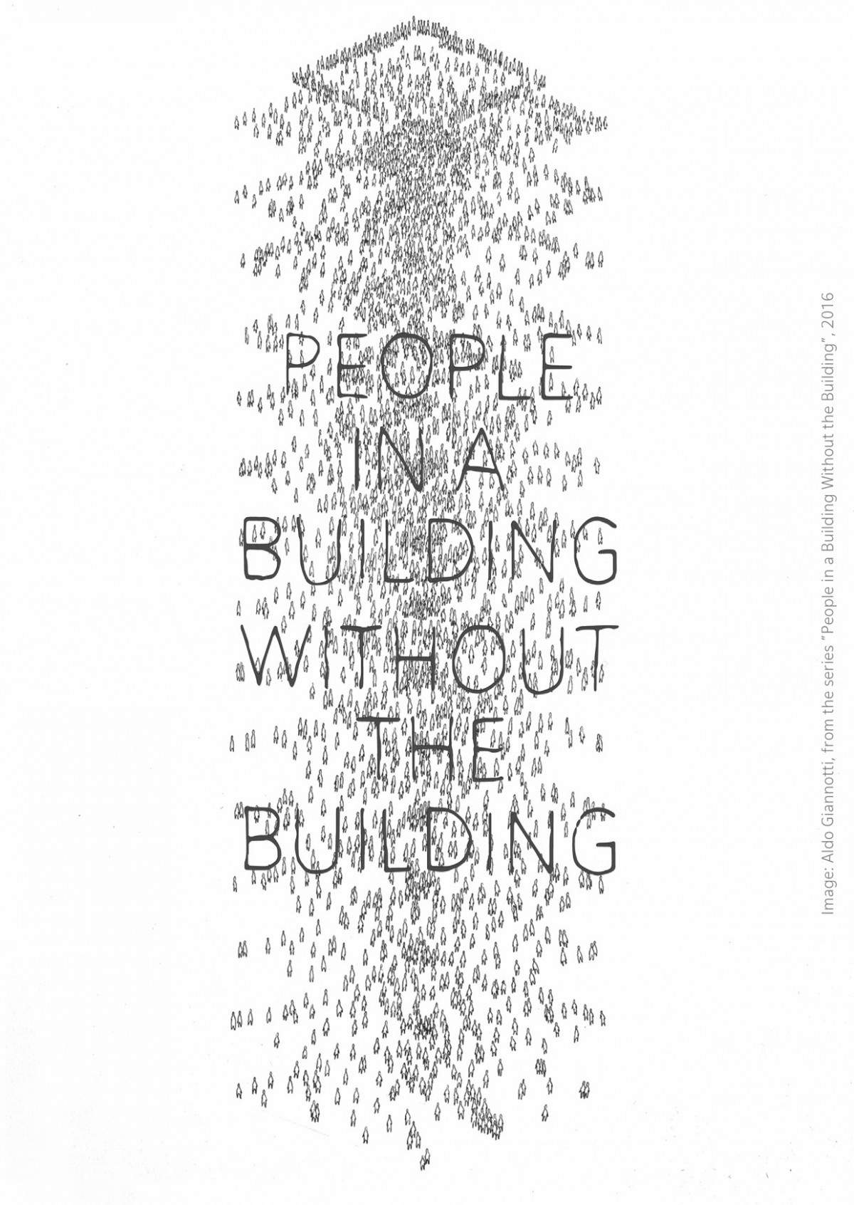 People in a Building Without the Building