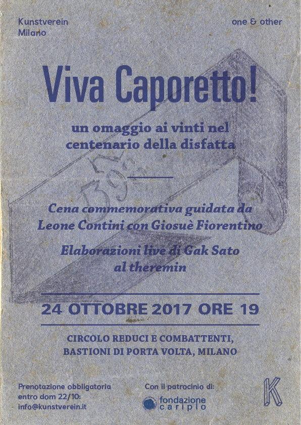 Viva Caporetto! un omaggio ai vinti nel centenario della disfatta